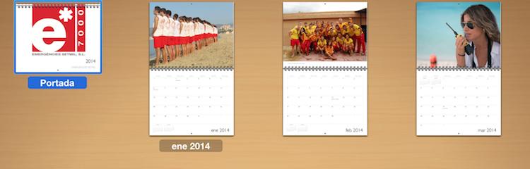 Calendario 2014. Feliz Año Nuevo.