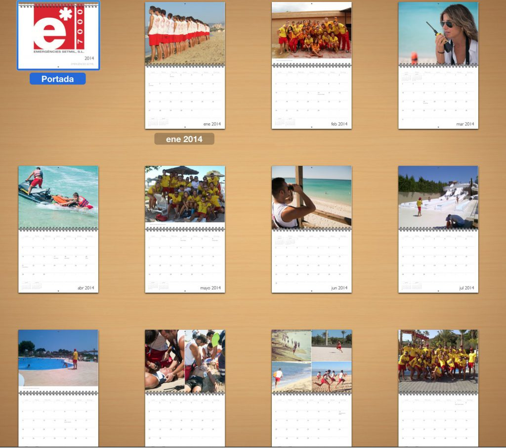 Calendario socorrista