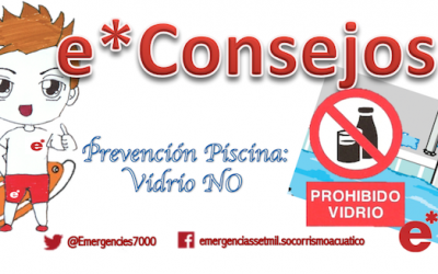 e*Consejo de tu socorrista: Prevención piscinas, Vidrio NO!!