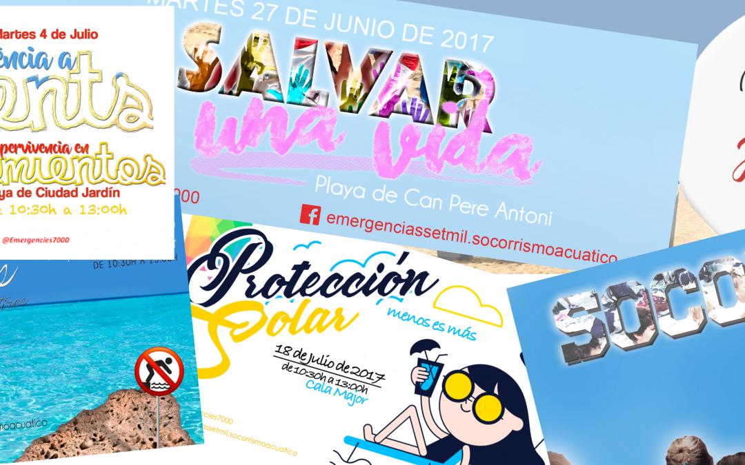Campañas preventivas en playas de Palma