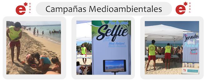 Jornadas medioambientales en playas de Palma