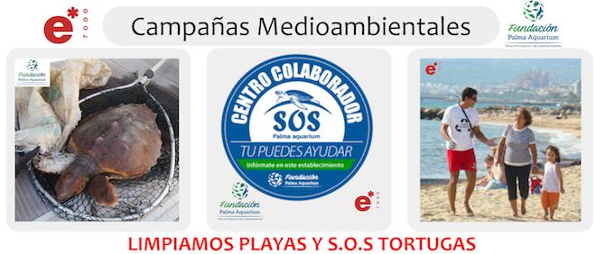 Limpiamos playas y SOS tortugas